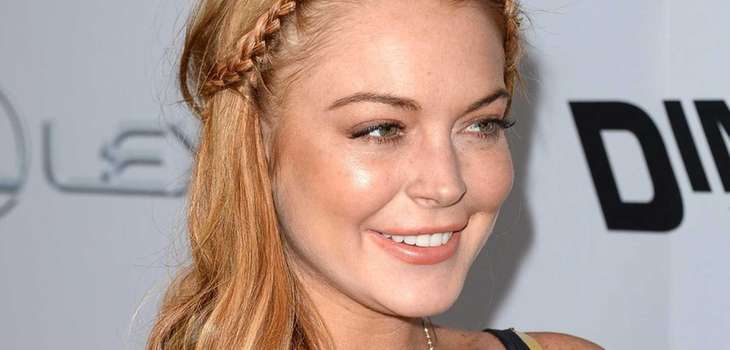 "Lindsay Lohan arrives at the Dimension Films' ""Scary"