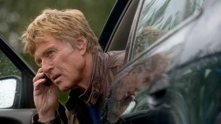 Robert Redford performs a scene in the new