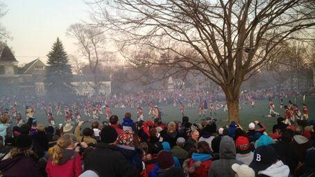 A Patriots Day reenactment in Boston. (April 15,