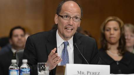 Labor nominee Thomas Perez told a Senate panel