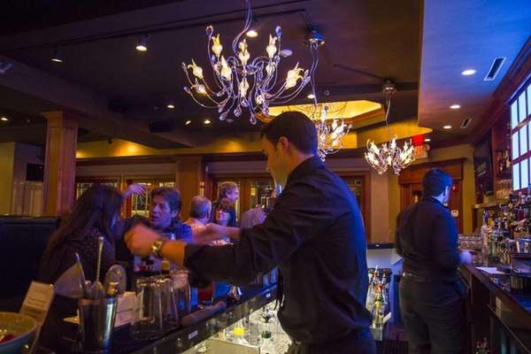 Hemisphere's bar-lounge area is an upbeat spot that