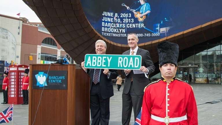 Brooklyn Borough President Marty Markowitz and Barclays Center