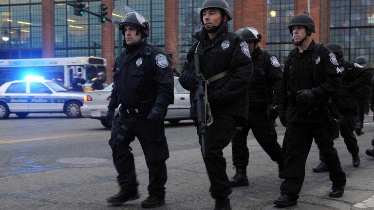 Police on School and Walnut Street in Watertown,