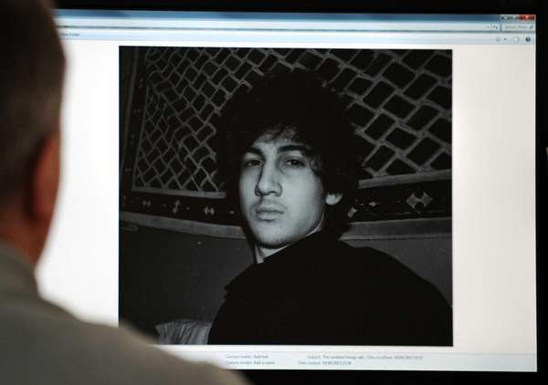 A photo of Dzhokhar Tsarnaev, who authorities say