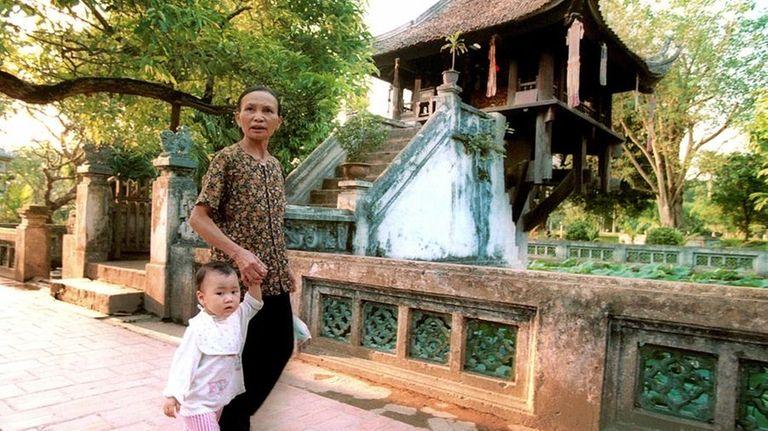 One Pillar Pagoda in central Hanoi is among
