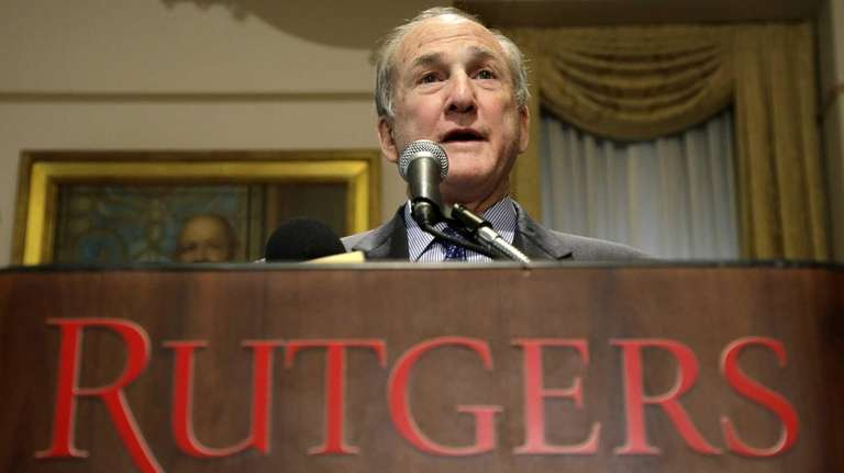 Rutgers President Robert Barchi announces that he had
