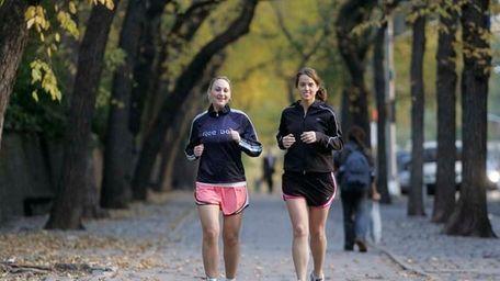 Runners in Central Park. (Nov. 1, 2006)