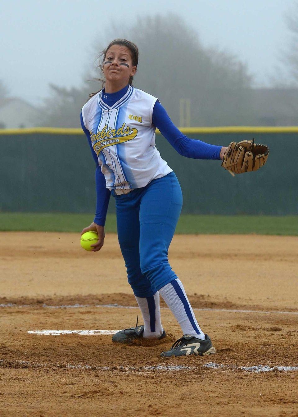 Kellenburg's Sabrina DeAngelis pitches against St. John the
