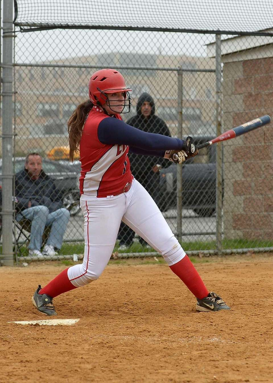 St. John's Kaitlan Hoffman drives in the go-ahead