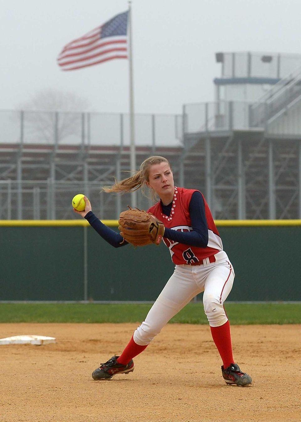 St. John the Baptist's second baseman Cara Bevilacqua