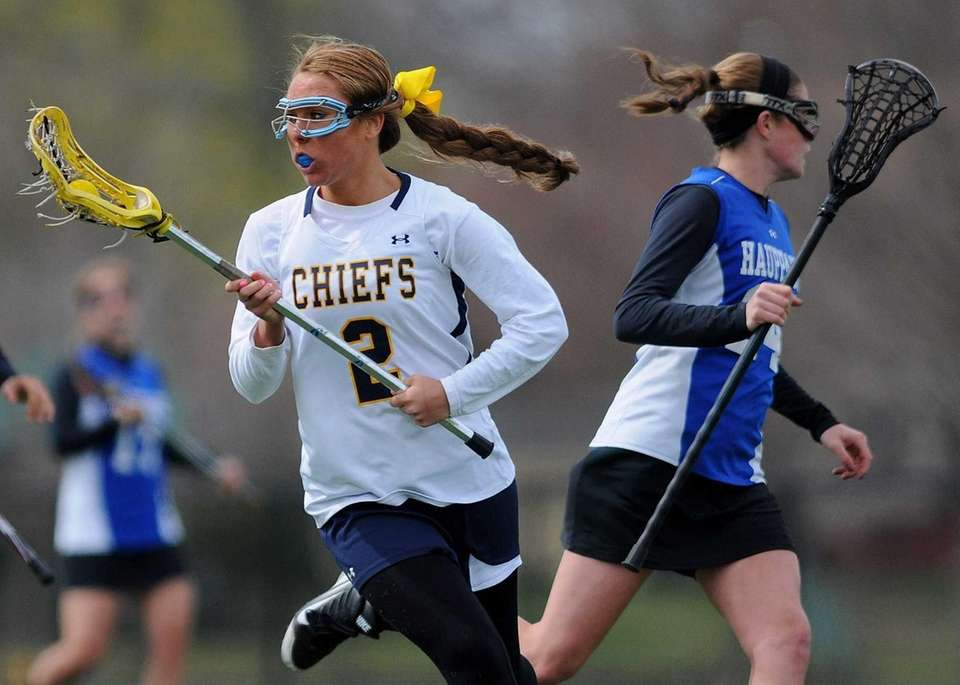 Massapequa's Danielle Doherty races downfield during the second