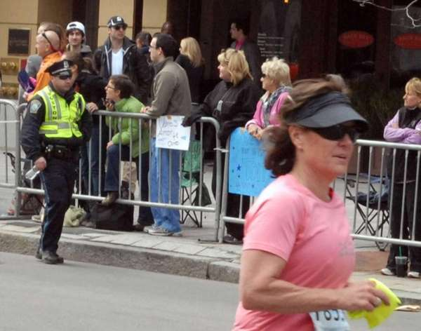 Dzhokhar and Tamerlan Tsarnaev at the Boston Marathon