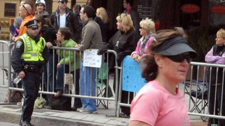 Dzhokhar and Tamerlan Tsarnaev at the Boston Marathon