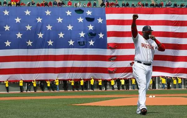 David Ortiz of the Boston Red Sox speaks