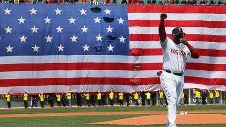 David Ortiz of the Boston Red Sox speaks