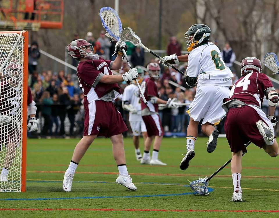 Ward Melville's Christian Mazzone puts the shot past