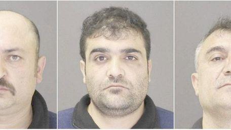 Yalcin Nergiz, 41, left, Yuniz Ozturk, 33, center,