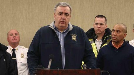 Boston Police Commissioner Edward Davis speaks about the