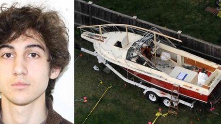Left, Dzhokhar A. Tsarnaev, suspected of carrying out