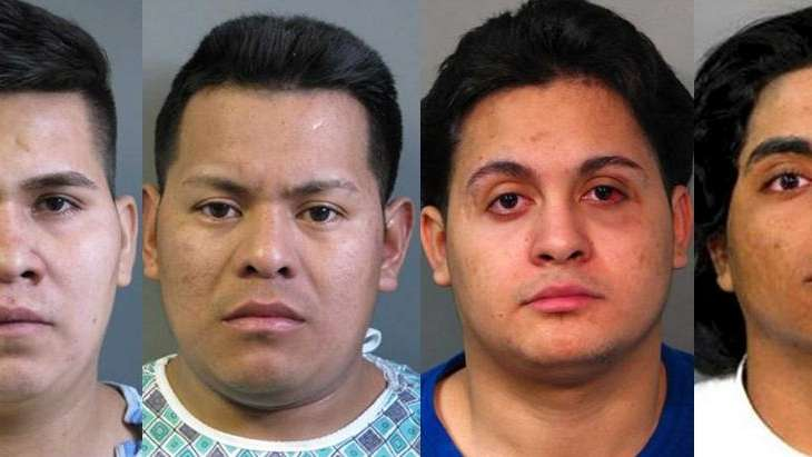 From left to right, Miguel Flores, Jose Hernandez,