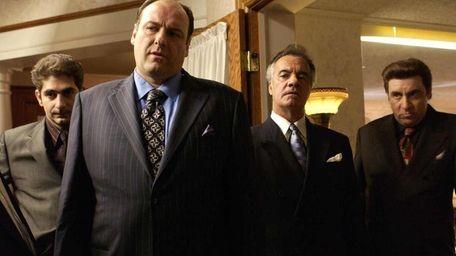 James Gandolfini, second from left, and Tony Sirico