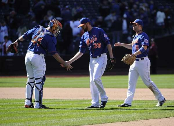 From left, John Buck, Bobby Parnell and David