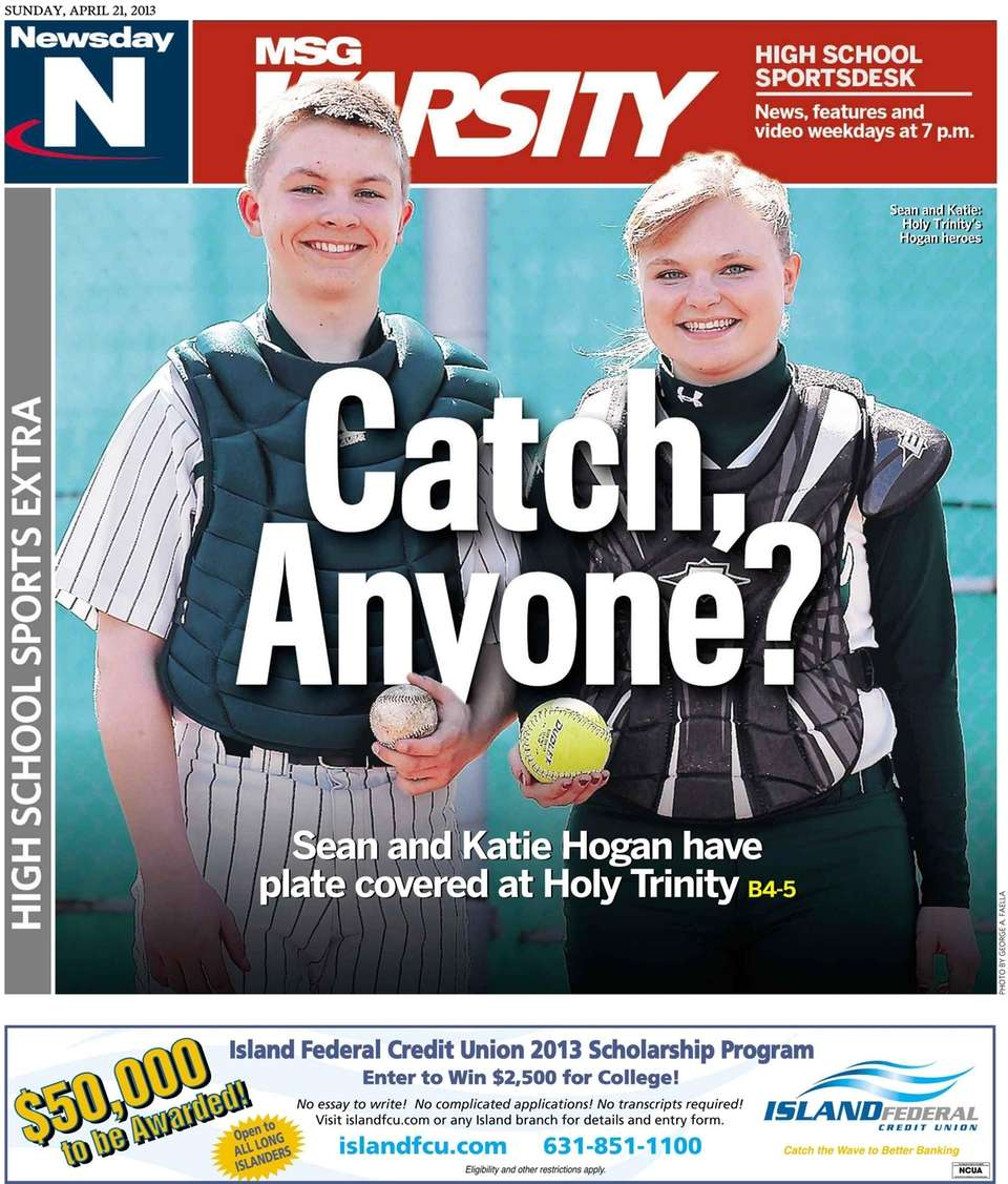 Holy Trinity catchers Sean (baseball) and Katie (softball)