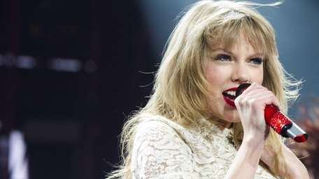 Taylor Swift performs at the Prudential Center in