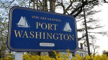 A sign on Port Washington Boulevard bids farewell