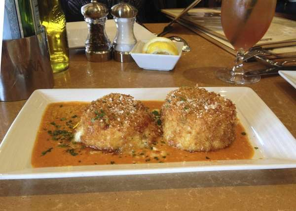 The fried capellini cakes at La Piazza in