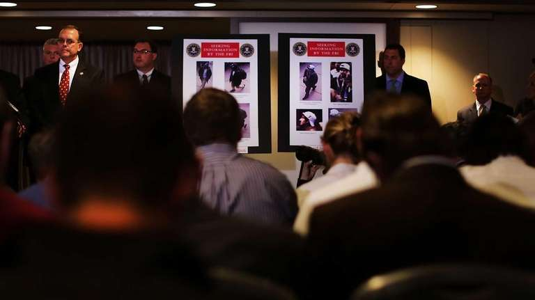Authorities present images from a security camera during