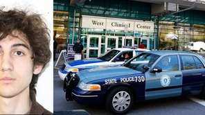 Left, Boston bombings suspect Dzhokhar Tsarnaev, who is