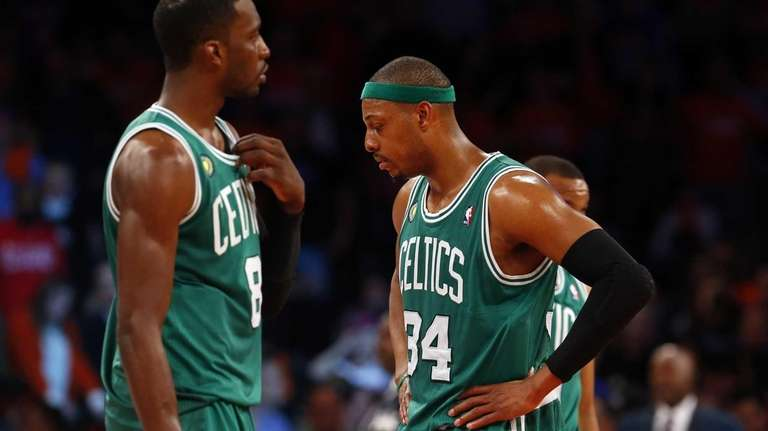 Paul Pierce and Jeff Green of the Boston