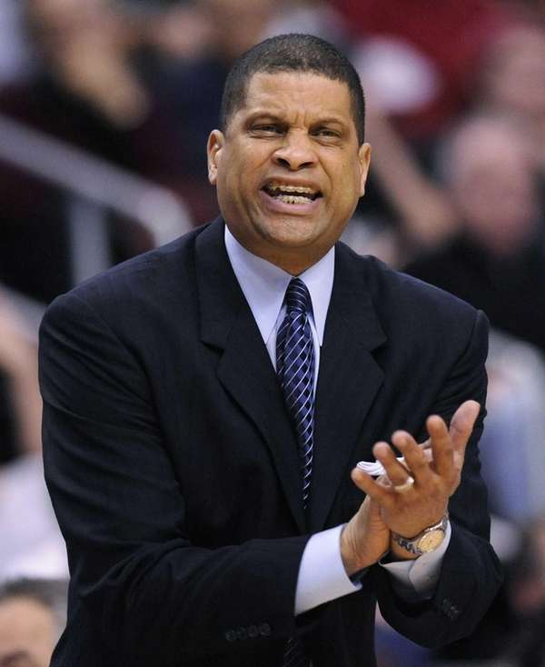 Then-Philadelphia 76ers coach Eddie Jordan reacts to a