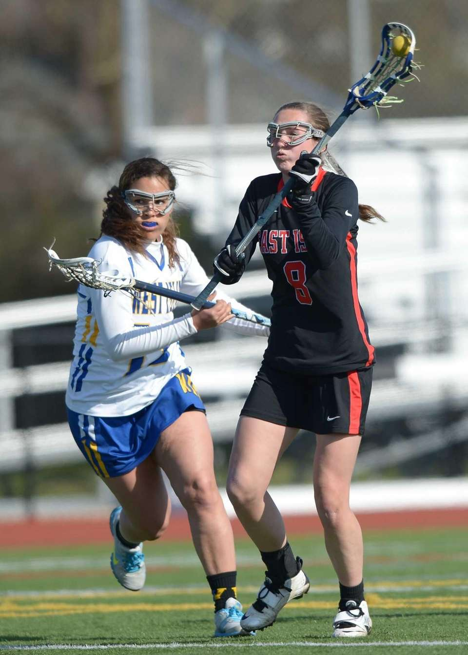East Islip's Valerie Pelling (8) shoots for the