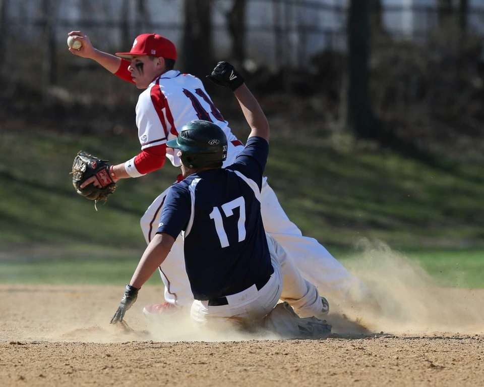Miller Place second baseman Kevin Cergol #11 shows