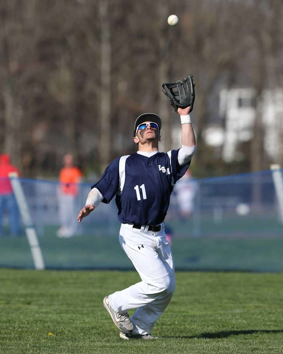 Eastport South Manor right fielder Tom Mauriello #11