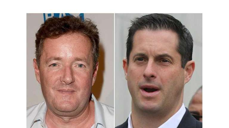 CNN host Piers Morgan, left, and New York