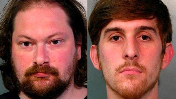 Kristopher Kaufman, 33, of Westbury, and Andrew Sciascia,