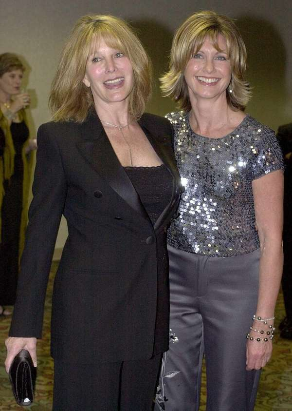Olivia Newton-John and sister Rona Newton-John at a