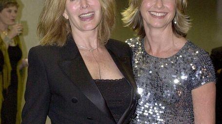 Olivia Newton-John and sister Rona Newton-John at a