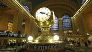 The famous opalescent clock keeps time at the