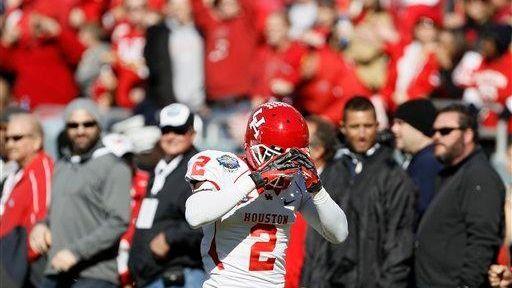 Houston defensive back D.J. Hayden stand on the
