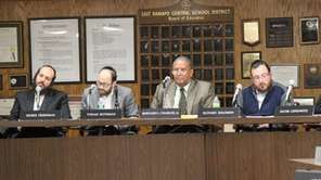 East Ramapo School Board members adopted a proposed