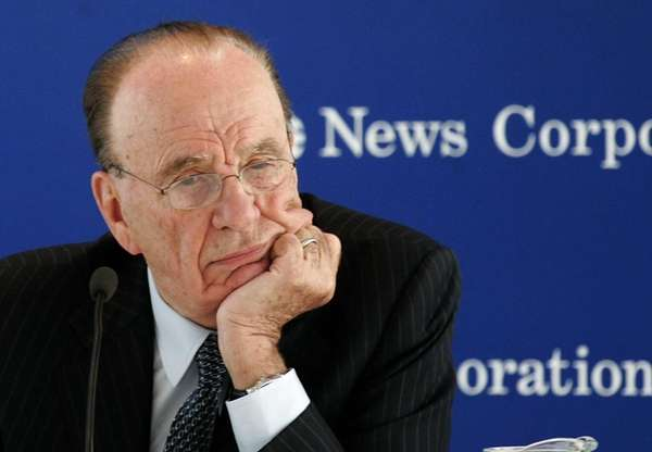Rupert Murdoch's holding, The Sun newspaper in London,