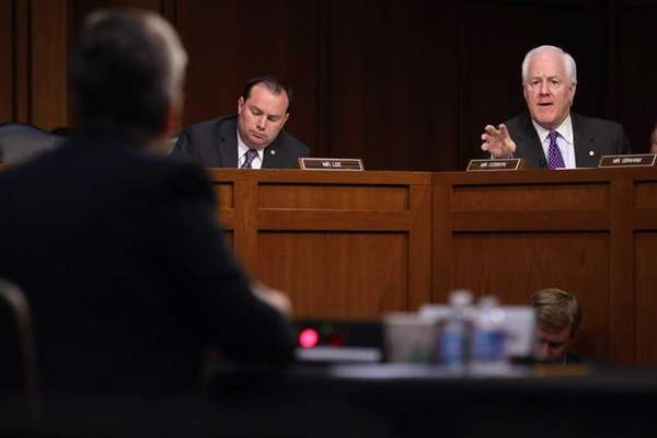 Senate Judicary Committee members Sen. John Cornyn and