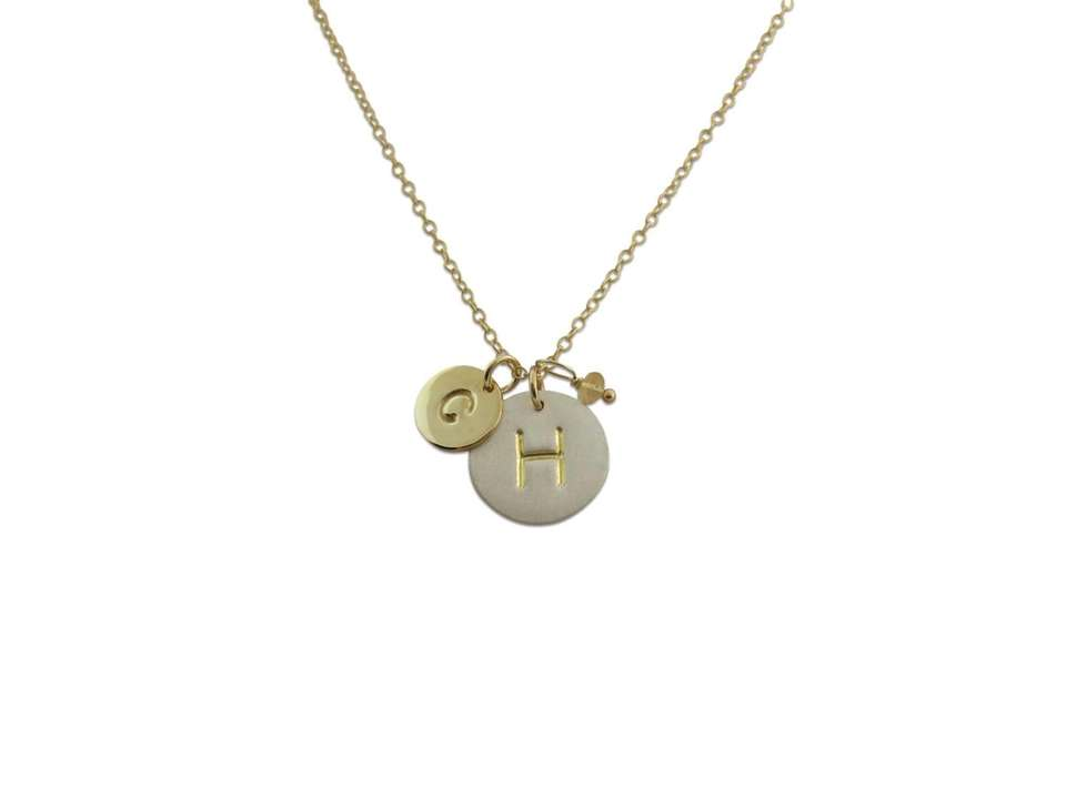 The Signature Initial Necklace from Isabelle Grace Jewelry