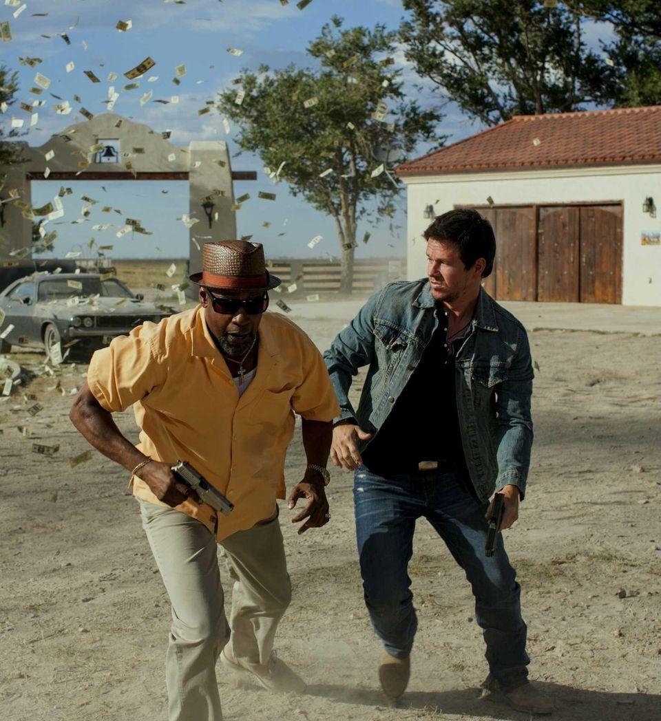 From left, Academy Award-winner Denzel Washington and Mark