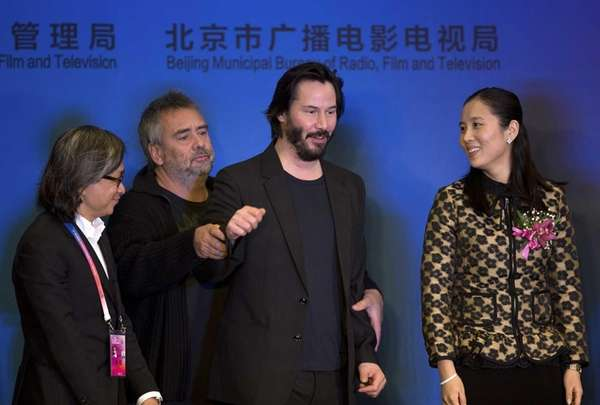 From left, Hong Kong film director Peter Chan,