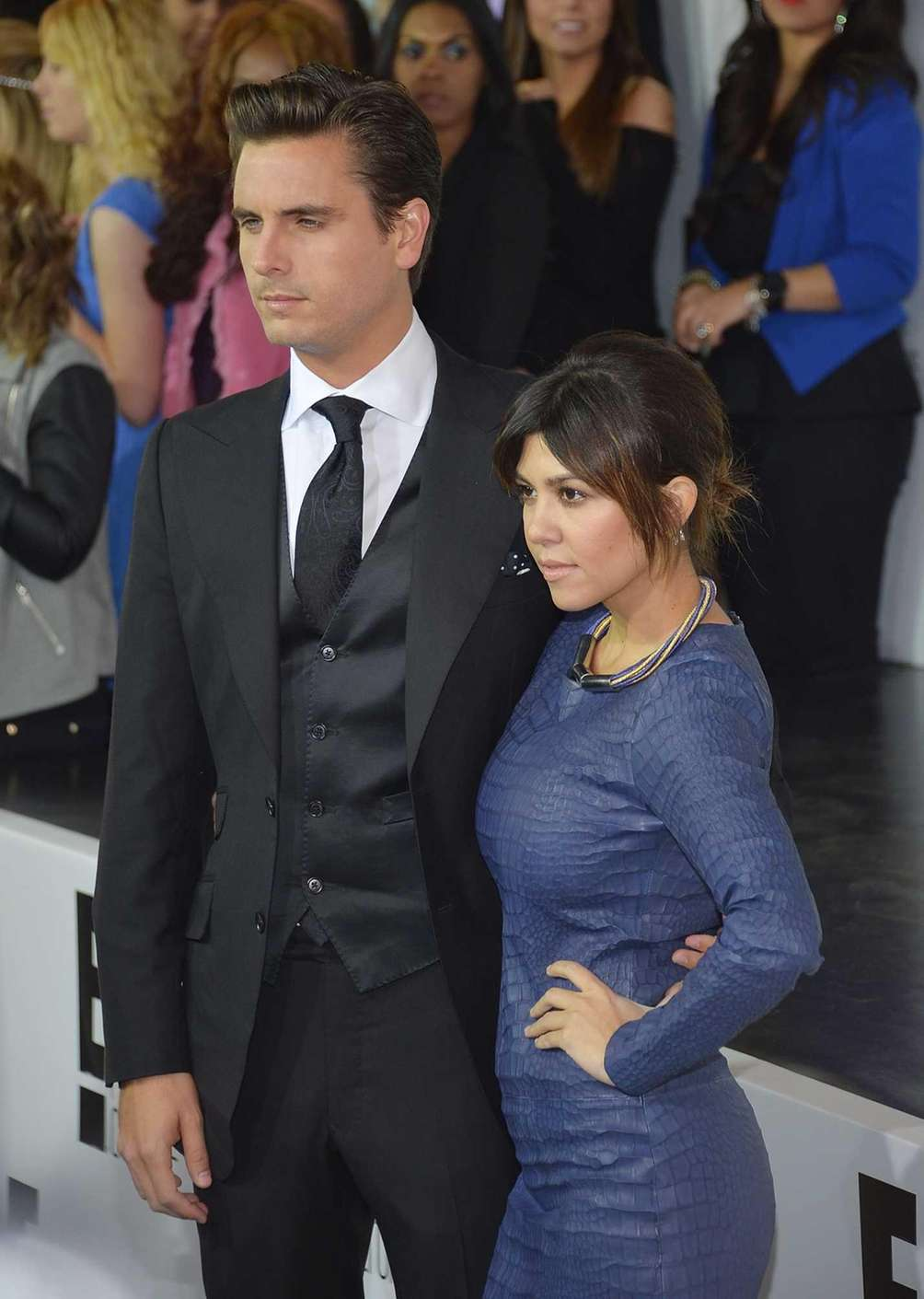 Scott Disick and Kourtney Kardashian attend the E!